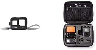 GoPro Hülle + Trageband für HERO8 Black   Blackout (Offizielles GoPro Zubehör) Schwarz & Amazon Basics Tragetasche für GoPro Actionkameras, Gr. S