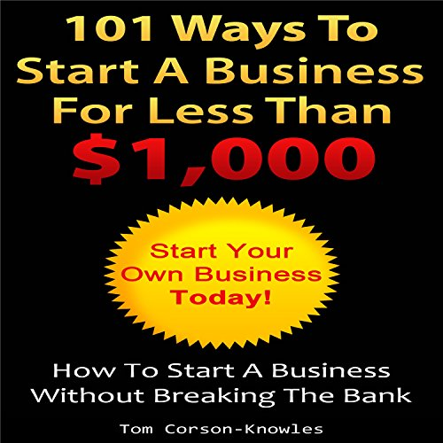 101 Ways to Start a Business for Less than $1,000 audiobook cover art