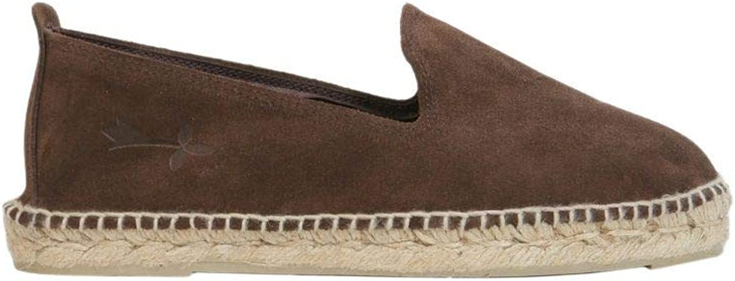 MANEBí Men's W18CSUEDETESTAMgold Brown Leather Espadrilles