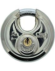 Burg-Wächter Ronde Beugelslot Circle 21 70 Sb (Verchroomd Roestvrij Staal, 9 Mm Beugeldikte) Zilver