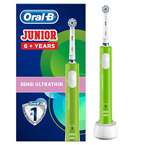 Oral-B Junior Brosse à Dents Électrique Rechargeable pour Enfants de 6Ans et Plus, Verte