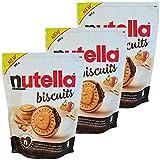 Nutella Biscuits 3 Packungen mit 304g - Ein köstlicher knuspriger Keks mit der ganzen Cremigkeit und dem einzigartigen Geschmack von Nutella Ferrero - Vertrieben von Freedoney