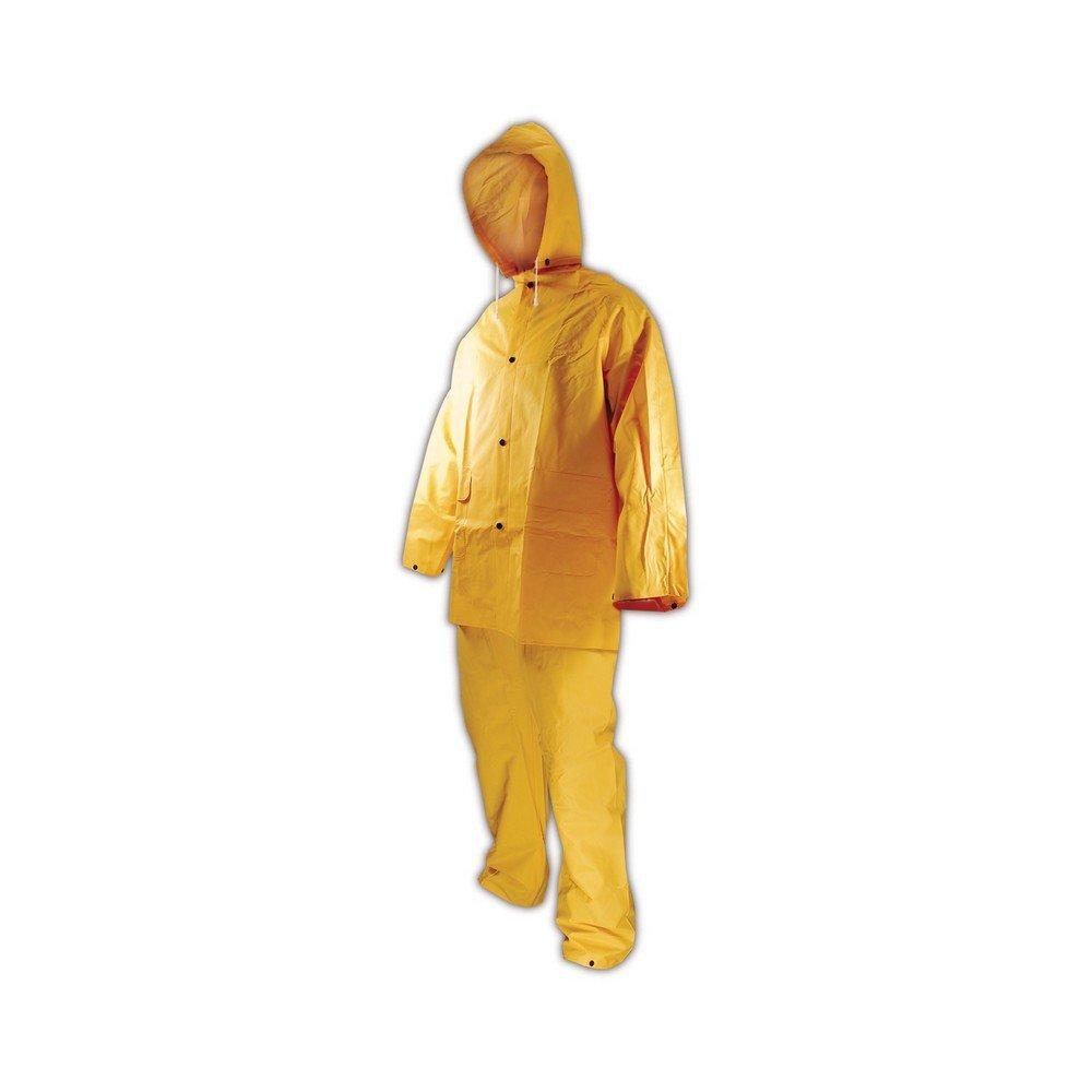 3 PIECE YELLOW RAINSUIT RAIN SUIT 35MM SIZE 3XL NEW IN BAG