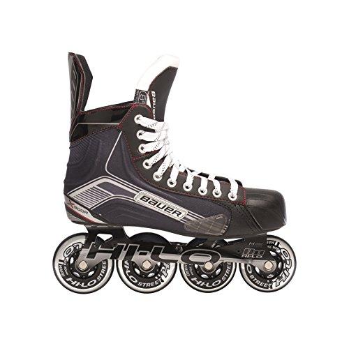 Bauer patines en línea para niños X300R - Youth Negro negro Talla:Y10.0 (28.0)