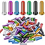 100pcs Cable Ends Caps Cycling Cable End Crimps Bikes Brake Tips Shifter Cable Ends for Road Bike and Mountain Bicycle,Random Color