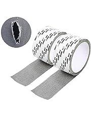 Cinta de reparación,2 rollos Cinta para reparar mosquiteras Fibra de vidrio cinta adhesiva,para Reparación de Pantalla de Ventana y Puerta