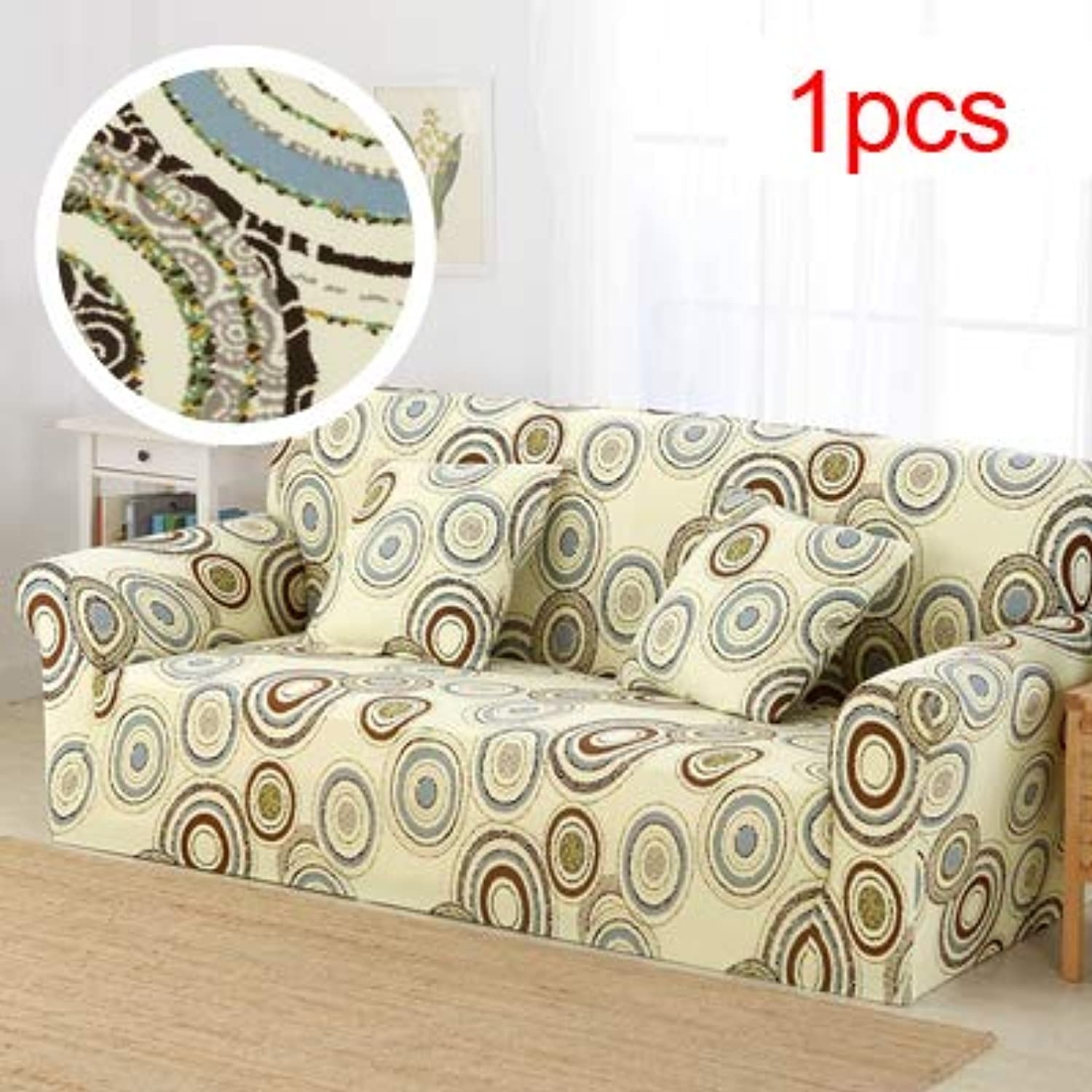 Elastic Sofa Cover Printed Flowers Slipcover Tight Wrap All-Inclusive Corner Sofa Cover Stretch Furniture Covers 1 2 3 4 Seater   10, Single seat Sofa