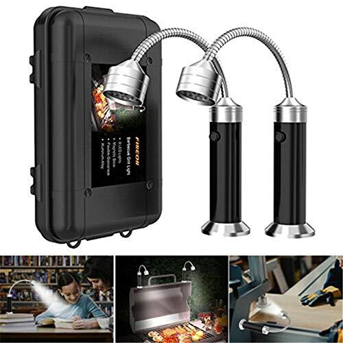 AKBQ 2Pack Magnetic Barbecue Grill-Licht/Leistungsstarke LED Grilllicht / 360 Grad Flexible Gooseneck Superhelle LED-Leuchten Für Jeden Grill Gas/Kohle/Elektro