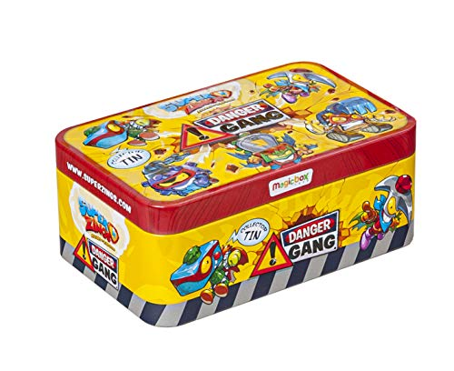 SuperZings - Serie 4 - Display 4x8 Lata Danger Gang (PSZSD48TIN10) con 5 Exclusivos Super Villanos