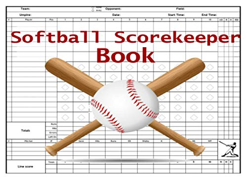 softball scorekeeper book: Baseball Game Record Keeper Book | 120 Pages