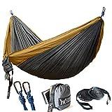 WINNER OUTFITTERS Double Camping Hammock - Lightweight Nylon Portable Hammock, Best Parachute Double Hammock for Backpacking, Camping, Travel, Beach, Yard. 118'(L) x 78'(W)