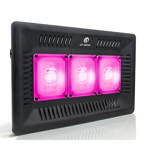 Waterproof 300W LED Grow Light Full Spectrum, New Technology COB LED Grow Light, Natural Heat Dissipation Without Noise, Suitable for Plants All Growing Stage Indoor or Outdoor