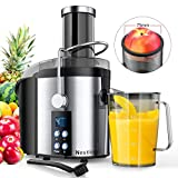 Nestling 800W Centrifugal Juicer 4 Speed Juice Extractor Real 3'' Feeder Chute, Powerful Pulse Function,...