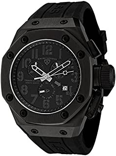 Swiss Legend Men's 10541-BLK Trimix Diver Chronograph Watch with Black Dial and Black Silicone Strap