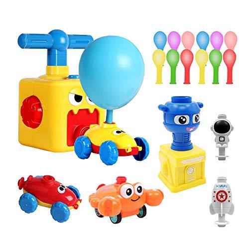 TDCQ Kinder Ballon Auto Spielzeug,Children Inertial Power Ball Car,Balloon Powered Car Balloon Launcher Toy,Luftballonpumpe Lernspielzeug mit (Monster)