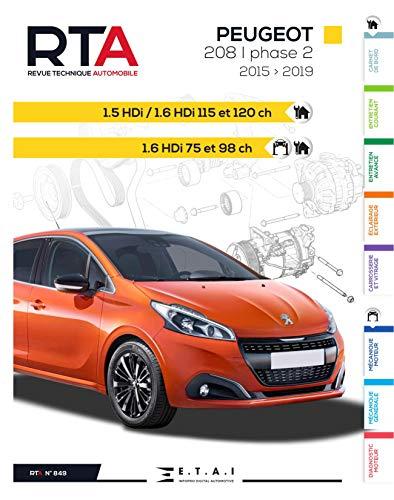 E.T.A.I - Revue Technique Automobile 849 PEUGEOT 208 Phase 2 (2015 à 2019)