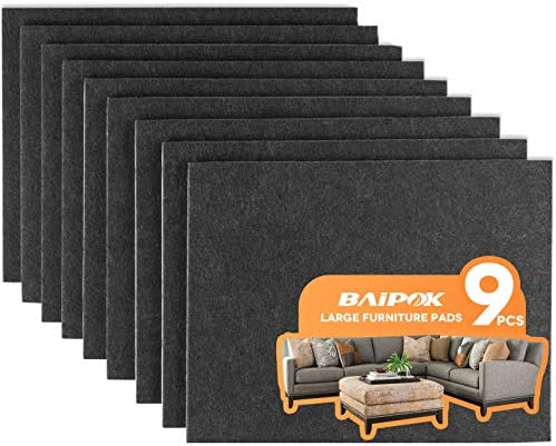 Furniture Pads 9 Pieces 8 x 6 x 1 5 Furniture Felt Pads Self Adhesive Cuttable Felt Chair Pads product image