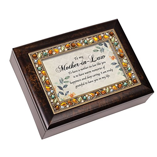 Cottage Garden Mother in Law Warm Memories Amber Earth Tone Jewelry Music Box Plays Edelweiss