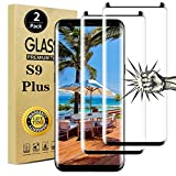 Galaxy S9 Plus Screen Protector, Full Coverage Bubble-Free 9H Scratch-Resistant HD Clear 3D Curved Dot Matrix Tempered Glass Screen Protector for Samsung S9+ Plus