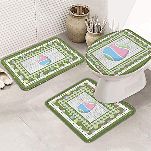 3 online shop Pieces Bathroom Rugs and Mats Easter Spring Non trend rank Holiday Sets