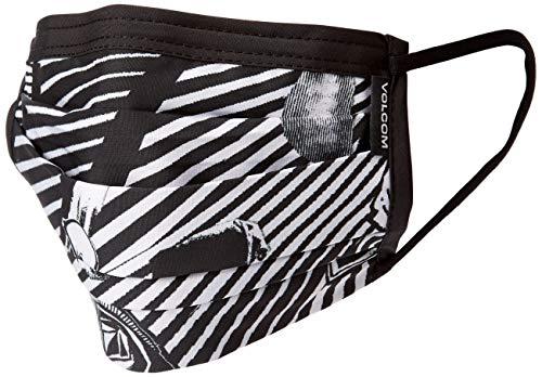 Volcom Unisex Adult Volcom Reusable Washable Face Mask Bandana, White/Black, One Size US