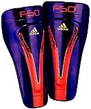 adidas F50 Techfit Shin Guard (Anodized Purple, Electricity, Infrared, Large)