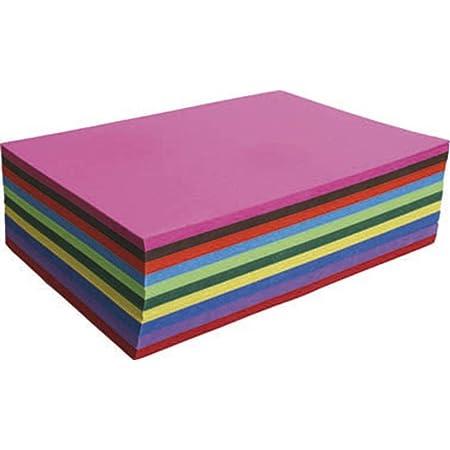 Clairefontaine 455499C Packung mit 25 B/ögen Fotokarton Recycling-Papier, 50 x 70cm, 270g, ideal f/ür Gruppenaktivit/äten 1 Pack farbig sortiert