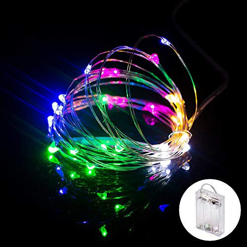 XINKAITE String Lights, Waterproof LED String Lights, Fairy String Lights Starry String Lights for Indoor& Outdoor DIY Decoration Home Parties Christmas Holiday (10FT/3Meters, Multicolor)