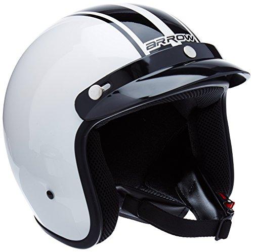 ARMOR Helmets AV-47 Jet-Helm Motorrad, DOT Schnellverschluss Tasche, S (55-56cm), Weiß
