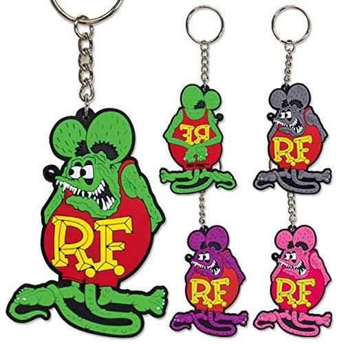 Rat Fink ラットフィンク ソフトラバー キーホルダー Rubber Key Ring 4カラー RKF051 (パープル)