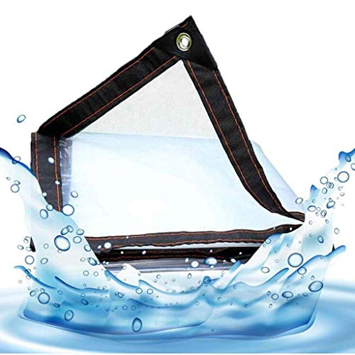 KAUTO Lonas Pengbu Bloqueo de Agua Balcón Tela Impermeable Cortina Impermeable Plástico Transparente Casa carnosa Borde Exterior a Prueba de Viento, 1x1m