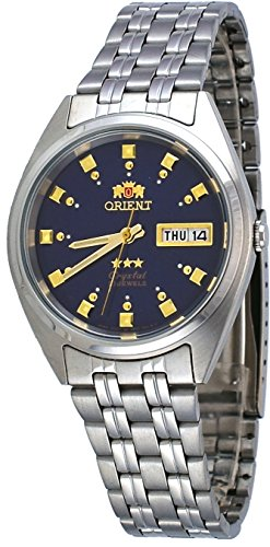 Orient FAB00009D Men's 3 Star Stainless Steel Navy Blue Dial Self Wind Automatic Watch