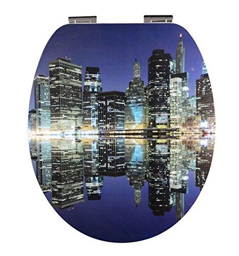EISL - Asse lucida per WC High Gloss, con sistema di abbassamento automatico, EDHGSLINE01