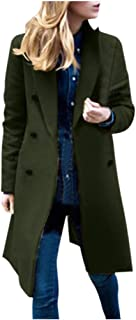 Women's Winter Outdoor Double Breasted Cotton Blend Pea Coat Jacket