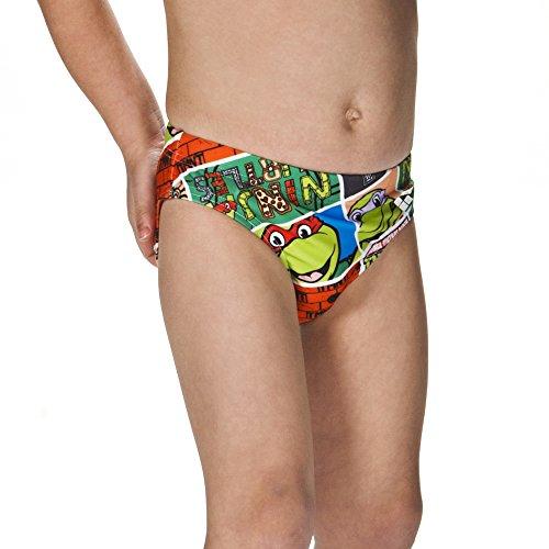 ARENA Jungen Kurze Sonnenschutz Badehose Turtels, Multicolour, 110