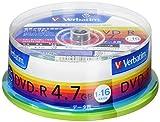 Verbatim バーベイタム 1回記録用 DVD-R 4.7GB 25枚 ホワイトプリンタブル 1-16倍速 片面1層 DHR47JP25V1