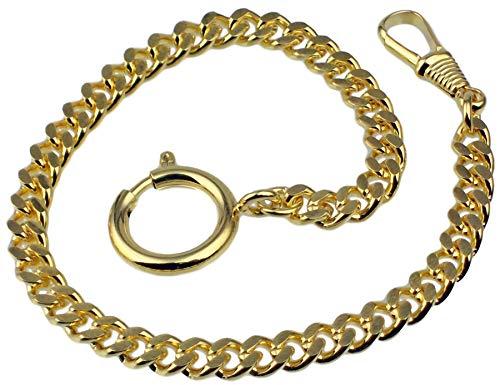 Taschenuhrkette Vergoldet Panzer Uhrkette 25cm Taschenuhr Uhr Kette 3010.2765