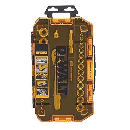 DEWALT Socket Set, 3/8-Inch Drive, SAE/Metric, 34-Piece (DWMT73804)