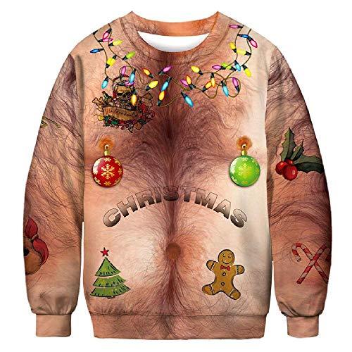 Vrouwen 2019 Lelijke Kerst Sweater voor Vakanties Kerstman Elf Kerst Grappige Nep Haar Sweater Herfst Winter Sweater