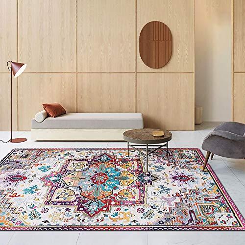 Michance Europäische rutschfeste Verdickte Couchtisch Sofa Matte Böhmischen Retro-Stil Bedruckten Teppich Schlafzimmer Wohnzimmer Hotel Bed & Breakfast Teppich