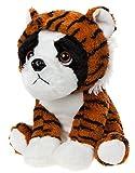 Lashuma Perro de peluche de bulldog francés con disfraz de tigre, 20 cm