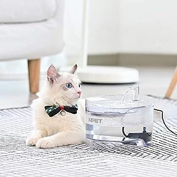 NPET Automatique Fontaine à Eau pour Chat Chien, Distributeur Eau pour Animal Domestique Filtre, 1,6L Électrique et Ultra Silencieuse WF030