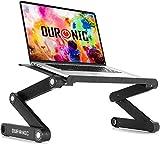 Duronic DML121 Soporte para Ordenador Portátil / Tablet / Macbook Plegable, Multiusos y Ajustable – 6 Patas Articulables con 24 Posiciones Diferentes