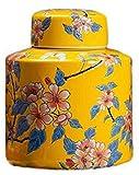 ZHENG Cremación urnas Urna para Perros Cenizas urnas Decorativas artesanales Hechos a Mano de Altura de cremación de Alta Temperatura para una pequeña cantidad de Cenizas humanas, amarillo-21 * 32 cm