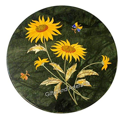 Gifts And Artefacts - Mesa auxiliar (30 x 30 cm), diseño de girasol