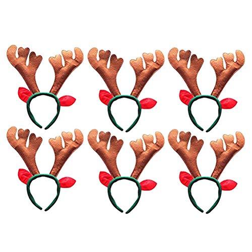 Frcolor Diademas Navideñas Diadema Reno Navidad con Cascabeles Copo de Nieve y...