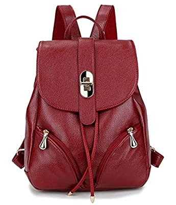 TIBES la mode en cuir petit sac à dos étanche pour les filles/femmes