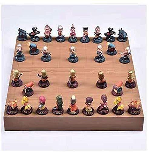 HEZHANG Schach-Set-Spiele Reise-Erwachsene Kinder-Board Chinesisches Schach-Set, Faltendes Hölzernes Schachbrett, Dreidimensionale Figur-Schach Von Drei Königreichs, Kreatives Geschenk Mit Chinesisch