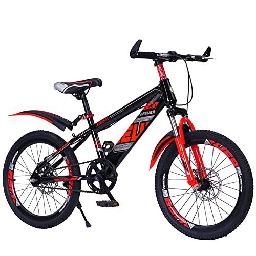 Axdwfd Infantiles Bicicletas 20 Pulgadas, Bicicleta para niños, Bicicleta con Ruedas de Entrenamiento y guardabarras, Adecuado para 9-14 años de Edad (Color : Red)