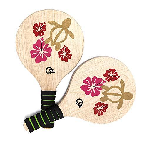 ARONTOME Beach Paddle Ball Game Beach Badminton Racket Juego de bádminton para Interiores y Exteriores Battle Dore para niños Adolescentes